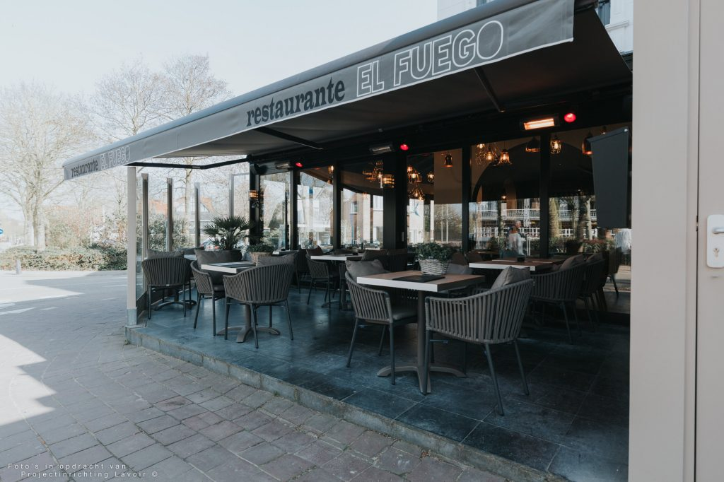 El Fuego VisitDomburg - foto van terras van het restaurant