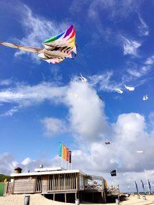 Strand90 VisitDomburg - foto van vliegerfestijn voor paviljoen